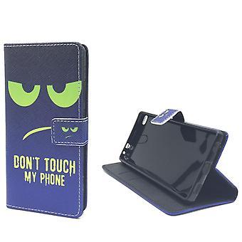 Ne pas toucher mon cas mobile téléphone Huawei P8 Flip case Etui portefeuille