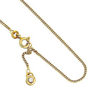 Fußkette 333/-G goldenes Fusskettchen mit Zirkonia Fusskette in gold