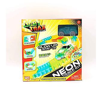 Happy Line Light Trax - Neon Track Kit Glow În Dark Racing Set