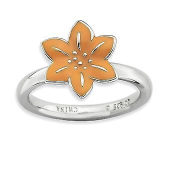 925 סטרלינג אמייל מלוטש מצופה ביטויים הערמה הטבעת מתנות לנשים הטבעת התכשיטים