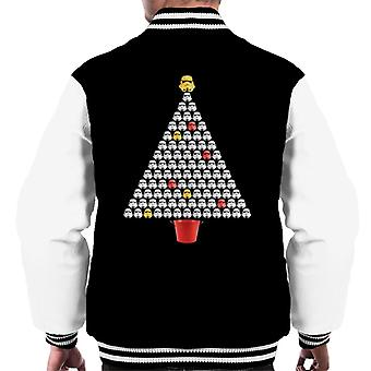 Original Stormtrooper Helmet Christmas Tree Men's Varsity Jacket