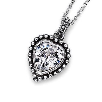 Oliver Weber Pendant Antique Heart Crystal