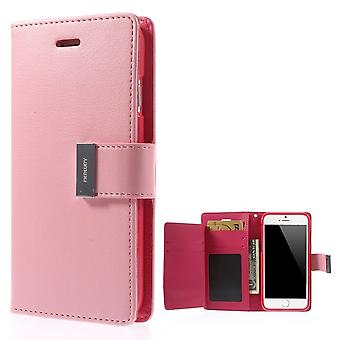 Mercury GOOSPERY Rich Diary for iPhone 6 PLUS PINK