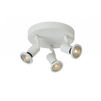 Inspiracja Jaster-LED nowoczesny okrągły metalowy biały sufit światło punktowe