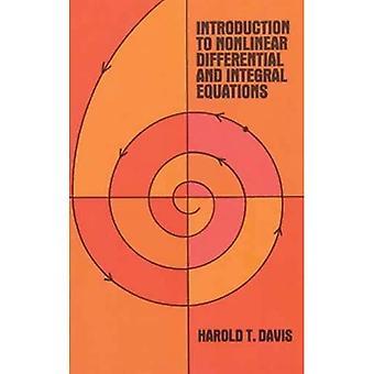 Introducción a ecuaciones integrales y diferenciales no lineales