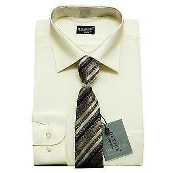 Page Boy Cream Shirt and Tie Set