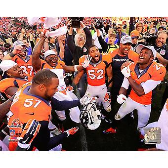 The Denver Broncos Celebrate winning the 2013 AFC Championship Game Photo Print