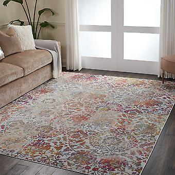 ANKARA GLOBAL ANR06 Ivory Orange  Rectangle Rugs Traditional Rugs