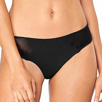 Sloggi Women S ZERO Feel Signature Low Rise Cheeky Brief, Black, X-Small