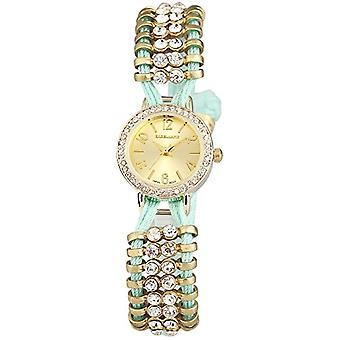 Excellanc 152404300039-wristwatch, fabric, color: Green