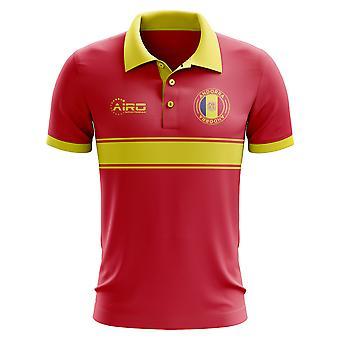 Koszulka Polo pasek koncepcja Andora (czerwony)