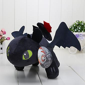 Black How To Train Your Dragon - Toothless Stuffed Animals 60cm
