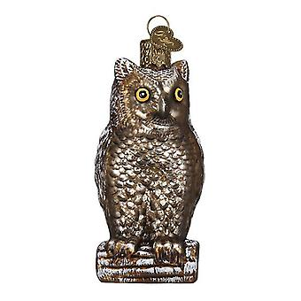 Old World Christmas Vintage Inspired Wise Old Owl Holiday Ornament Glass