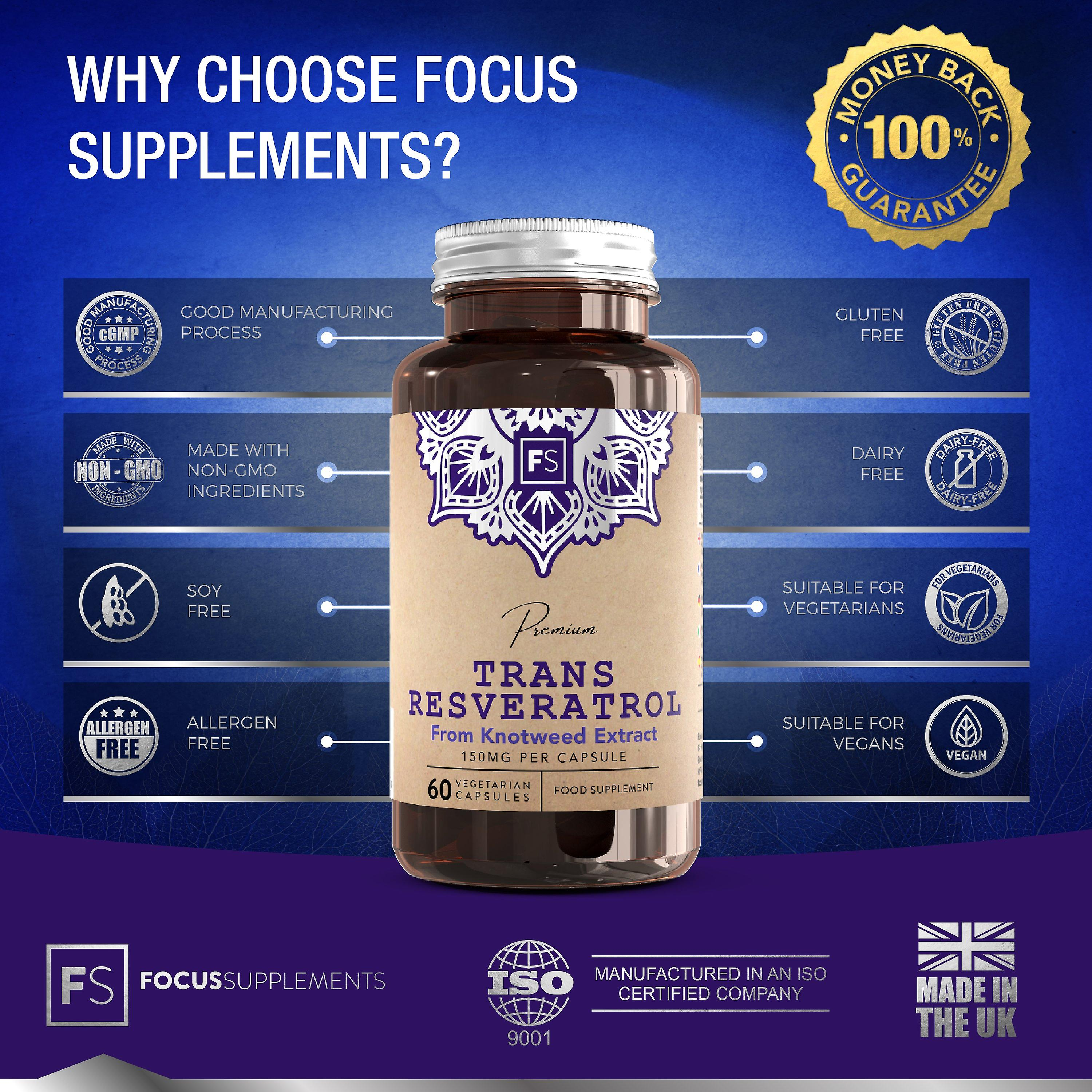Trans-Resveratrol (150mg) 60 Capsules (Vitamins & Supplements , Special Supplements)