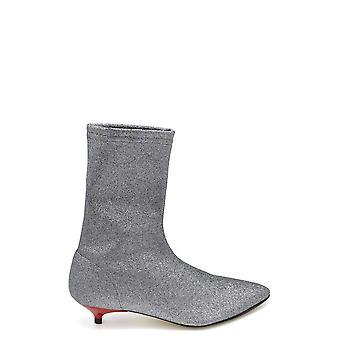 Gia Couture Ezbc366001 Women's Silver Glitter Ankle Boots