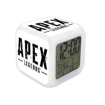 Digital Alarm Clock-Apex Legends, White Logotype
