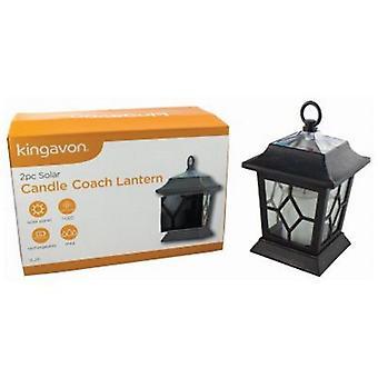2 x solaire LED traditionnelle scintillement bougie lanterne suspendu lumières jardin