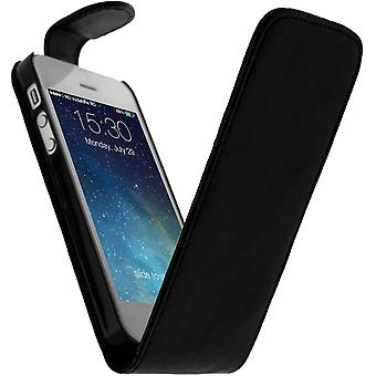 Black Flip Cover Case for Apple iPhone SE, 5 and 5s