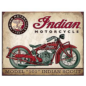 Indian Scout Retro Tin Sign