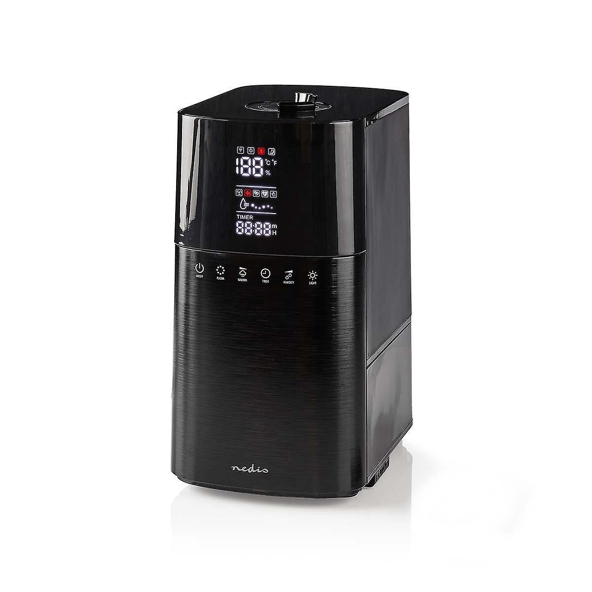 Nedis Humidifier | 6 L | Hygrometer | Remote Control | Black