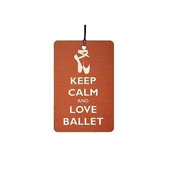 Keep Calm And Love Ballet Car Air Freshener