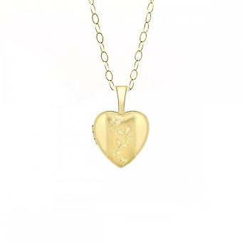 Eternity 9ct Gold Small Butterfly Heart Locket And 16'' Chain Eternity 9ct Gold Small Butterfly Heart Locket And 16'' Chain Eternity 9ct Gold Small Butterfly Heart Locket And 16'' Chain Eternity
