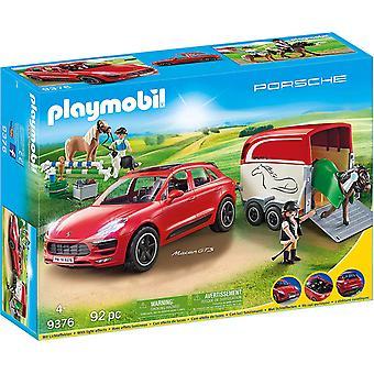 Playmobil 9376 Porsche Macan GTS mit Pferdeanhänger und Winde