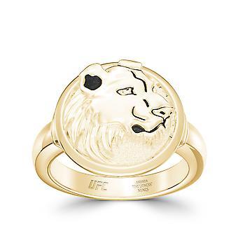 Amanda Nunes ring in 14k geel gouden ontwerp door BIXLER