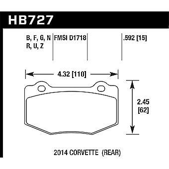 Hawk prestaties HB727G. 592 DTC-60
