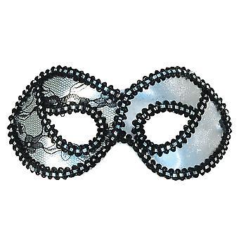 Bristol Novelty Unisex Adults Metallic Lace Domino Eye Mask