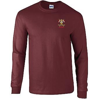 9.12. Royal Lancers veteran-licenseret British Army broderet langærmet T-shirt
