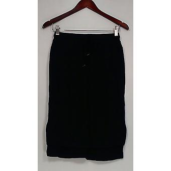 Wendy Williams Skirt Tie Waisted Maxi Skirt Black Womens 469-762