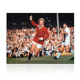 Denis Law Signed Manchester United Photograph
