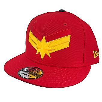 Capitán Marvel Escarlata Rojo Nueva Era 9Cincuenta Sombrero Ajustable