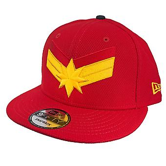 Captain Marvel Scarlet Red New Era 9Fifty verstellbare Hut