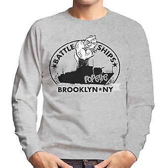 Popeye Battle Ships Brooklyn Men's Sweatshirt