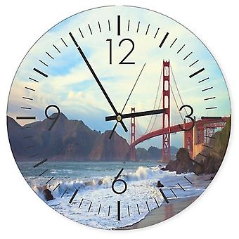 Decorative Clock With Picture, The Golden Gate Bridge
