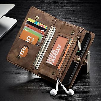 CaseMe case voor Apple iPhone X / XS 5,8 tas + beschermende geval + kast Brown