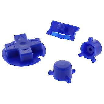 Replacement button set a b d-pad power switch for nintendo game boy pocket - blue