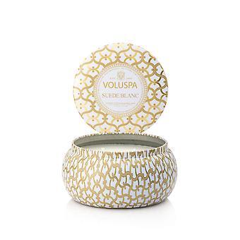Voluspa 2-Wick Maison Metallo Candle Suede Blanc 312g