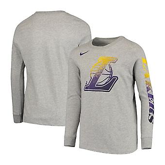 Nike Nba Los Angeles Lakers Jugend Mezzo Logo Performance Langarm T-shirt