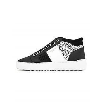 Android Homme Siyah & Beyaz Mozaik İtiş Orta Sneaker