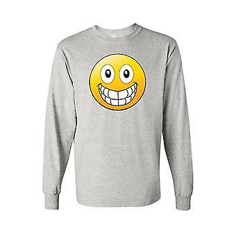 Mænds langærmet skjorte stort smilende ansigt