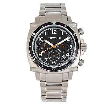 Morphic M83 serie kronograf armband klocka w/date-silver/svart