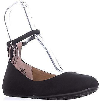 American Rag Womens Aeeva Faux Suede Ankle Strap Ballet Flats