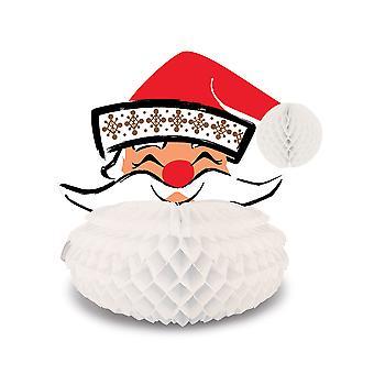 Vintage Christmas Santa mittpunkten