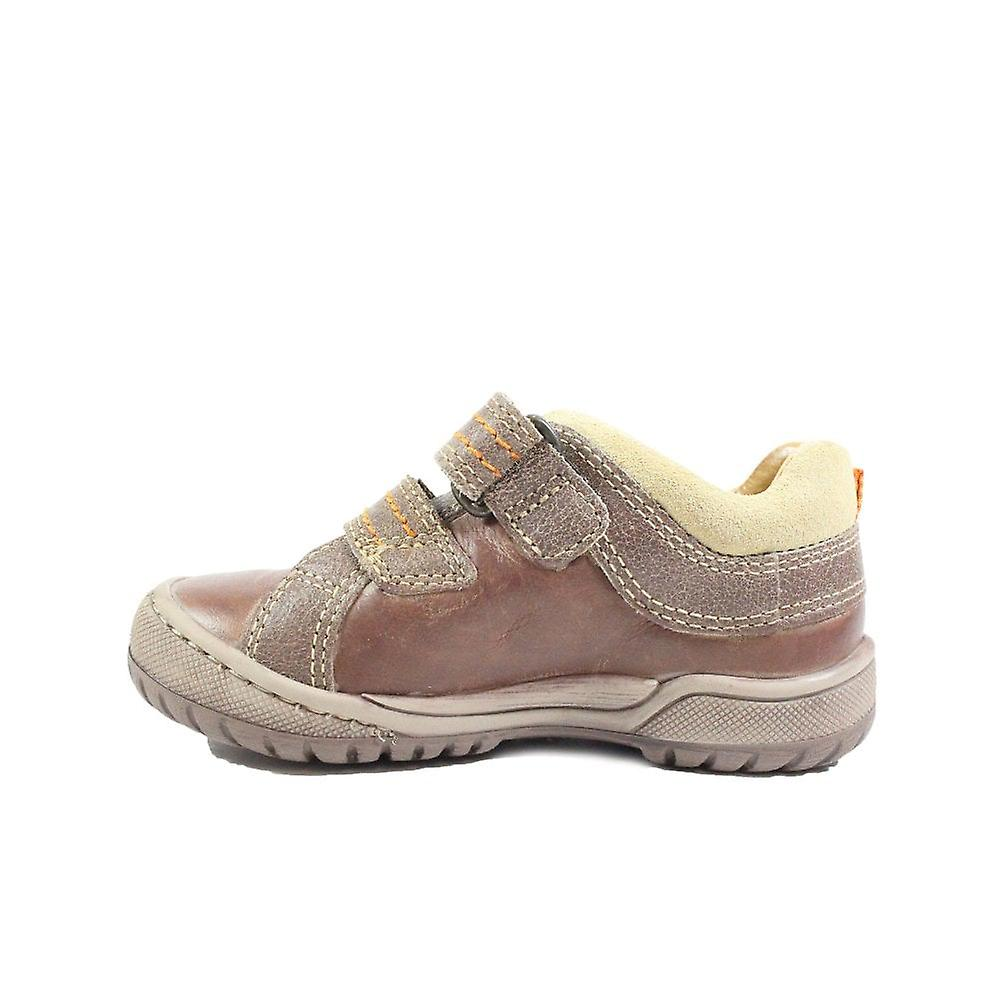 Startrite Naples Leather Boys Rip Tape Casual Shoes Y2tkON