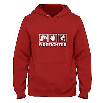 Felpa cappuccio uomo rosso dec0132 firefighter