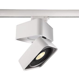 LED 3-phase rail spotlight Black & White IV 26W 3000K 40° white