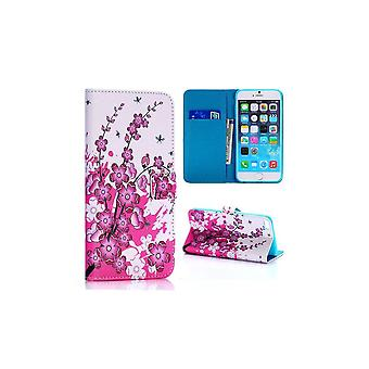 Japanese Flower Pattern Case With Apple IPhone Card Door 6 Plus 5.5